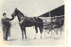 Elmer Flick with one of his trotters